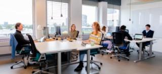 co-working ruimte in Utrecht met werkende mensen